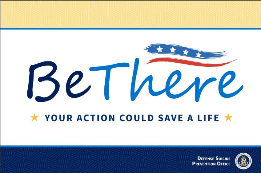 "Chaplain Corps Supports the DoD ""Be There"" Campaign for National Suicide Prevention Awareness Month"