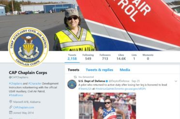 Civil Air Patrol Chaplain Corps' Social Media Presence