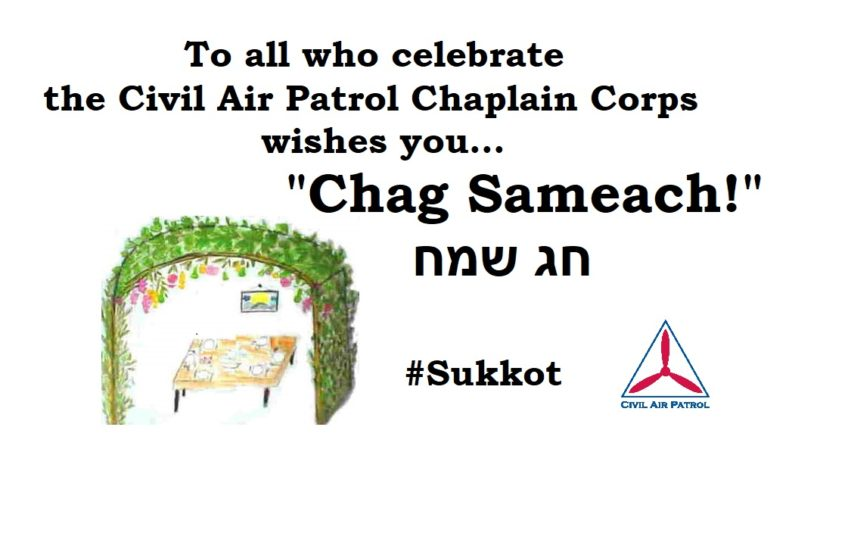 "Chaplain Corps Wishes ""Chag Sameach!"" to All Who Celebrate Festival of Sukkot"