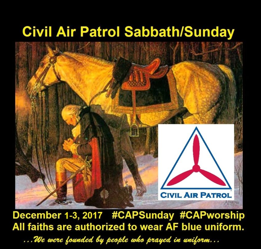 Civil Air Patrol Sabbath and Sunday Is Coming the First Weekend in December